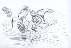 Original Sketch #16 - Mickey Mouse - The Sorcerer's Apprentice - Garrido