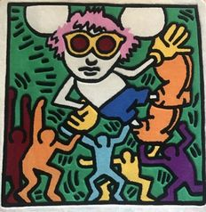 Keith Haring - Andy Mouse (Colors) Rug