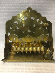 A brass Chanukah Menorah - the Netherlands - end of 19th century