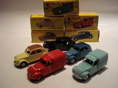 Atlas Dinky Toys / Dan Toys - Scale 1/43 - Lot with 5 Citroens
