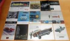 Lot of 126 old original GM ads (Buick Cadillac Chevrolet Oldsmobile Pontiac)