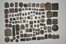A hundred antique, bronze moulds from India