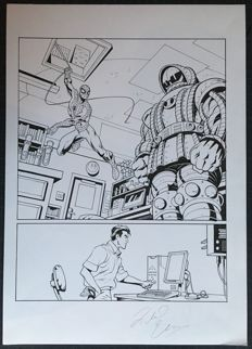 Original Art Page By Richard Elson  - Pen & Ink - Spider-Man : Tower Of Power #16 - Page 3 - (2008)