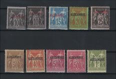 Former French Colonies 1899/1900 - Almost complete series signed Calves - Yvert no. 7 to 16