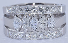 1.49 Ct Diamond marquise ring - NO reserve price!