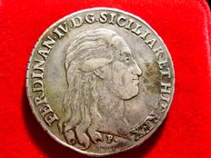 Spain - Spanish territories in the south of Italy - Fernando IV of Naples, III of Sicily, Prince of Spain - Silver piastra Palermo (Sicily). 1798 P/M,A-P
