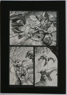 Simon Bisley - Original Art Page - Pencil, Pen & Ink - Tower Chronicles Vol 2 #1 - Page 15 - (2014)