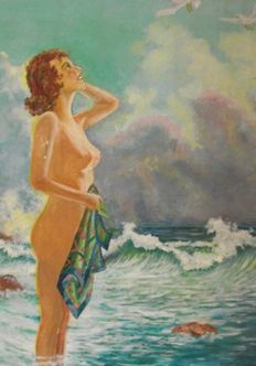 Unknown artist (early 20th century) - Nude scene