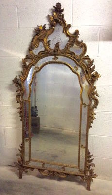 Venetian Rococo style gilt wall mirror - Italy, late 19th century