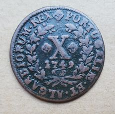 Portugal – X Réis 1748 – D. João V . Above Average