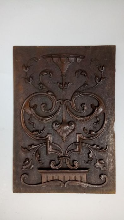 Victorian wooden hand carved wall plaque - England - second half 19th century