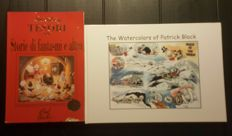 Block, Patrick - 2 rare books - The Watercolors of Patrick Block + Tesori Tre: Storie Di Fantasma e Altro + original ink drawing - sc/hc (2000/2015)