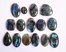 Labradorite Gemstone lot 515 ct - 15 pcs