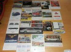 Lot of 46 old original Chrysler Plymouth DeSoto Dodge Imperial ads