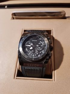 Savoy Icon Midway 2016 - Chronograph - Black Dial with Carbon Fiber - never worn
