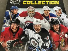 154 cards/1 album/1 laminated card/3 new sealed packs - hockey player-international-players from all the teams-collectible cards-1990-91-91/27 years old