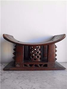 Ancient fetish Stool of an African dignitary - ASHANTI - Ghana