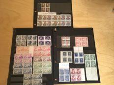 Spain 1935/1938 - Lot of complete series of the Republic and Spanish State.