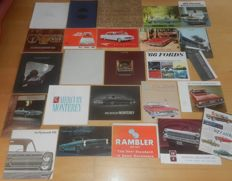 Lot of 25 classic USA car brochures
