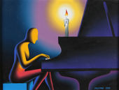 Regardez Mark Kostabi - The Pianist (Nightwalk)