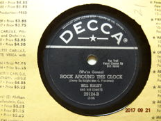 21 x 78 RPM records with Rock'n Roll and Popmusic from the 1950'ties.