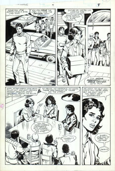 Original Art Page By Bob Hall And Romeo Tanghal - Marvel Comics - PSI Force #7 - Page 8 - Classic Comic Art - (1987)