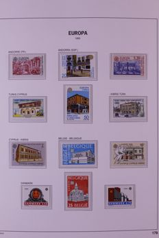 CEPT/ Europa Stamps 1990/1994 - Virtually complete collection including blocks and followers in Davo LX preprint album