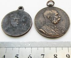 Two medals of Austria and Russia .