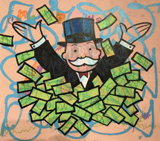 Dillon Boy - Monopoly Guy Money - Graffiti Pop Art