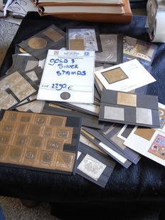 Thematics - Space Gaulle, Stamps on Stamps, Gold & Silver Stamps collection on cards and  pages