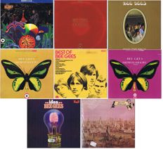 Bee Gees - beautiful collection of 9 original LP's in nice condition. (1964-1971)