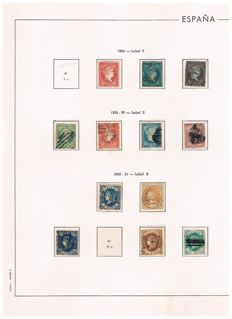 Spain 1850/1899 - Rest of the classic collection in album sheets