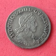 France - Louis XIII (1610-1643) - 1/2 Crown 1643 A (Paris) - silver