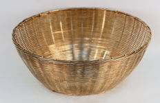 Silver Plate Weave Basket, Circa.1950's