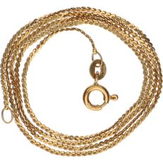 18 kt yellow gold flat S-link necklace - length: 43 cm