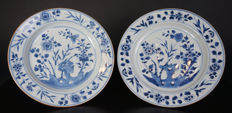 A set of blue and white porcelain plates - China - 18th century, around 1750