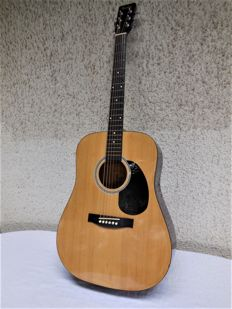 Old Barclay acoustic guitar, type CD1 100, steel-string guitar