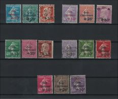 France 1928/1931 - 5 complete series of Caisse d'Amortissement, signed Calves – Yvert No. 249/251, 253/255, 266/268, and 275/277