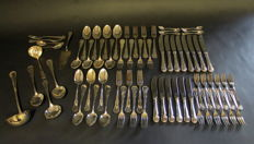 70-pieced silver plated classic model cutlery, WMF, Germany