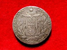 Spain - Ferdinand VII (1808, 1813-1833), proclamation medal from a 2 silver reales coin - Madrid, 1808