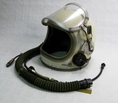 Helmet for pilot of Soviet reactor