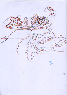 Vives Mateu, Xavier - Original drawing - Goofy goes surfing