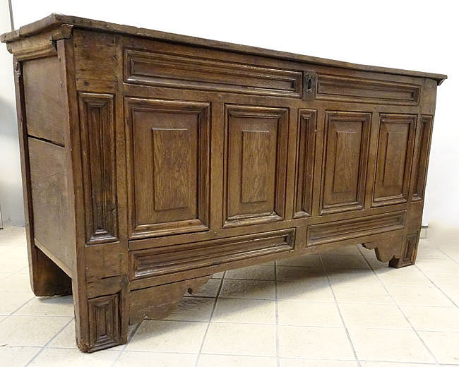 Sleek style blanket chest, oak - Holland - 1797