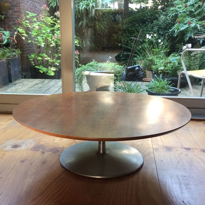 Design Salontafel Artifort.Pierre Paulin For Artifort Vintage Round Coffee Table Catawiki