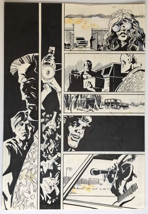 Original Art By Bob Hall - Pen & Ink - Acclaim Comics - Armed And Dangerous : Hell's Slaughterhouse #2 page 15 - (1996)