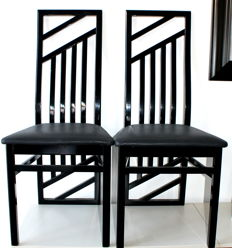 Unknown designer - Pair of designer chairs