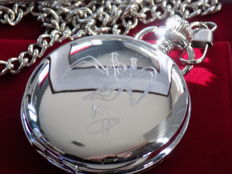 Led Zeppelin silver plated pocket watch.