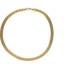 18 kt yellow-gold decorated herringbone-link necklace - length: 40 cm