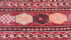 Rare Antique 1952 Kilim Oriental Rug from the Caucasus signed and dated