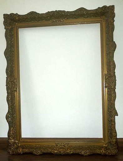 Beautiful gold-plated Baroque picture frame, first half 20th century